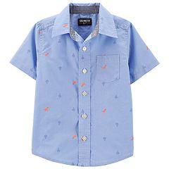 4e19fad69 Toddler Boy OshKosh B'gosh® Dinosaur & Cactus Button Front Shirt