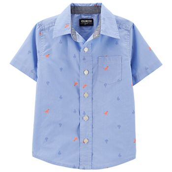 Toddler Boy OshKosh B'gosh® Dinosaur & Cactus Button Front Shirt