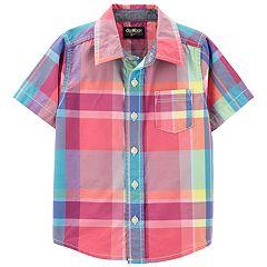 Toddler Boy OshKosh B'gosh® Plaid Button Front Shirt