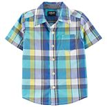 Toddler Boy OshKosh B'gosh® Plaid Button Front Shirt