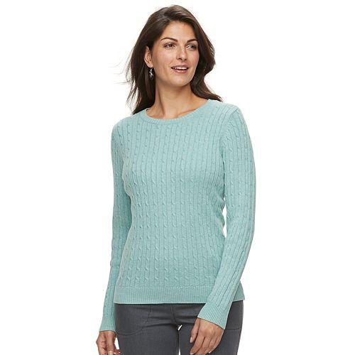 96672f095b9526 Women s Croft   Barrow® Classic Cable-Knit Crewneck Sweater