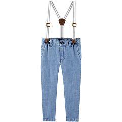 Toddler Boy OshKosh B'gosh® Suspender Chambray Denim Pants
