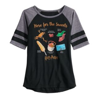 """Girls 7-16 & Plus Size Harry Potter """"Here for the Sweets"""" Graphic Tee"""