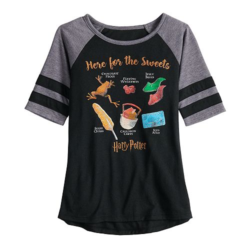 "Girls 7-16 & Plus Size Harry Potter ""Here for the Sweets"" Graphic Tee"