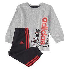 Baby Boy adidas 2-pc. Sports Graphic Tee & Jogger Pants Set
