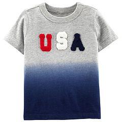 Toddler Boy OshKosh B'gosh® 'USA' Dip Dyed Top