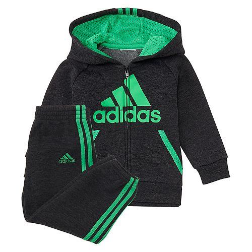 Baby Boy adidas 2-pc. Mesh Hooded Zip Jacket & Pants Set