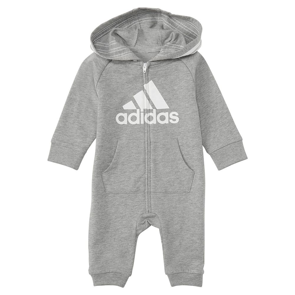 Baby Boy adidas Logo Hooded Coverall