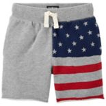 Toddler Boy OshKosh B'gosh® American Flag French Terry Shorts