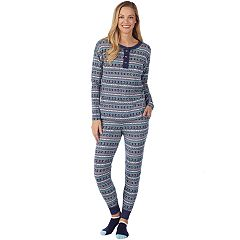 Women's Cuddl Duds Off Duty Cool Tee & Banded Bottom Sleep Pant Pajama Set