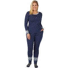 Plus Size Cuddl Duds Henley Tee & Joggers Pajama Set