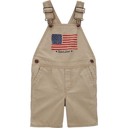Toddler Boy OshKosh B'gosh® American Flag Shortalls