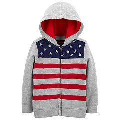 Toddler Boy OshKosh B'gosh® French Terry Flag Zip Hoodie