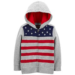 fc934bbaa Toddler Boy OshKosh B'gosh® French Terry Flag Zip Hoodie