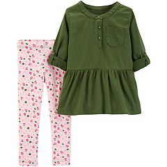 Toddler Girl Carter's Henley Tunic & Floral Leggings Set