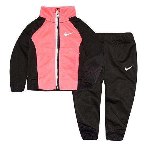 Baby Girl Nike Colorblock Raglan Jacket & Jogger Pants Set