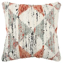 Rizzy Home Orange Geometric Transitional Throw Pillow