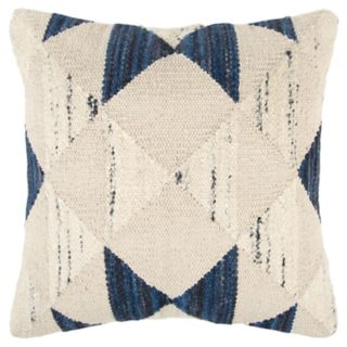 Rizzy Home Indigo Geometric Transitional Throw Pillow