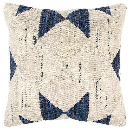 Rizzy Home Indigo Geometric Transitional Throw Pillow
