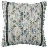 Rizzy Home Blue Geometric Throw Pillow