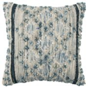 Rizzy Home Blue Geometric Throw Pillow