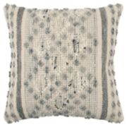 Rizzy Home Gray Geometric Throw Pillow