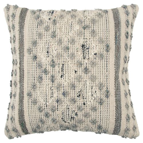 Rizzy Home Gray Geometric Throw Pillow