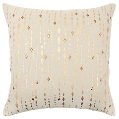 Rizzy Home Gold Stripe Transitional Throw Pillow