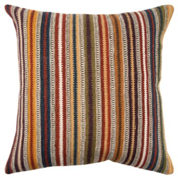 Rizzy Home Orange Stripe Throw Pillow