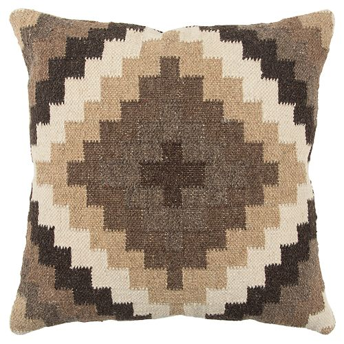 Rizzy Home Brown Southwest Transitional Throw Pillow