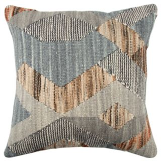 Rizzy Home Gray Geometric Transitional Throw Pillow
