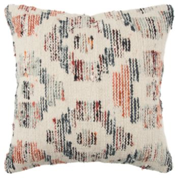 Rizzy Home Orange Geometric Transitional Throw Pillow
