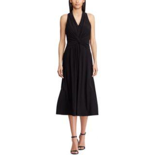 Petite Chaps Knot-Front Halter Dress