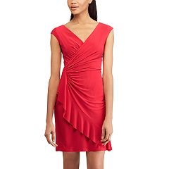 Women's Chaps Ruffled Faux-Wrap Dress