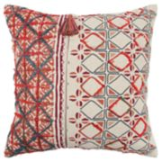 Rizzy Home Red Geometric Transitional Throw Pillow