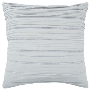 Rizzy Home Light Blue Stripe Transitional Throw Pillow