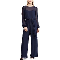 Women's Chaps Georgette Wide-Leg Jumpsuit