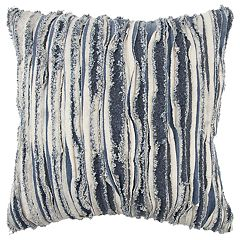 Rizzy Home Indigo Stripe Transitional Throw Pillow