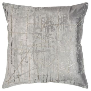 Rizzy Home Gray Abstract Transitional Throw Pillow