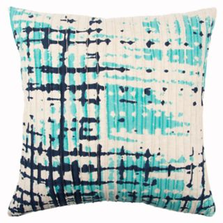 Rizzy Home Blue Abstract Transitional Throw Pillow