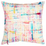 Rizzy Home Pink Abstract Transitional Throw Pillow