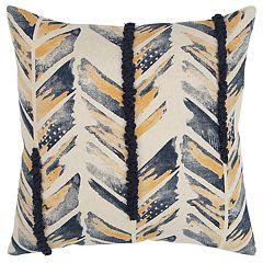 Rizzy Home Indigo Chevron Transitional Throw Pillow