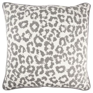 Rizzy Home Andrew Charles Gray Animal Print Transitional Throw Pillow
