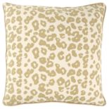 Rizzy Home Andrew Charles Yellow Animal Print Transitional Throw Pillow
