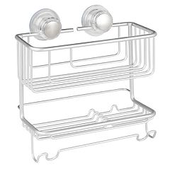 Interdesign Metro Aluminum Turn-N-Lock 2-tier Combo Basket
