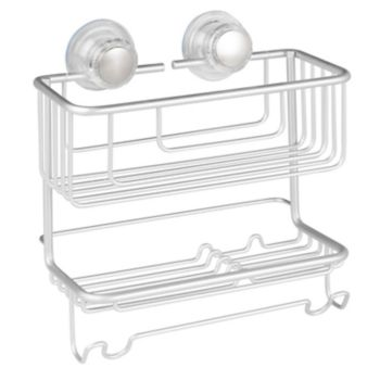 Interdesign Metro Aluminum Turn-N-Lock 2-tier Combo Basket