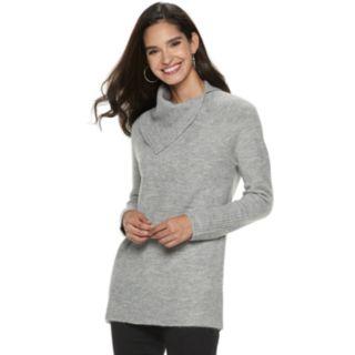 Women's Apt. 9® Cozy Asymmetrical Mockneck Tunic Sweater