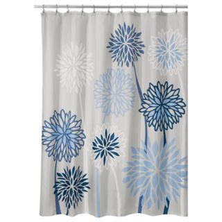 Interdesign Zinnia Floral Shower Curtain
