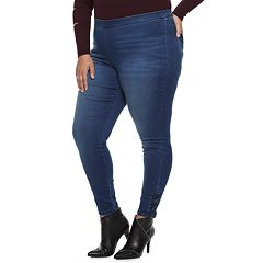 Plus Size Jennifer Lopez Lace-Up MidRise Jeggings