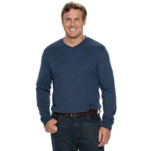 Big & Tall Croft & Barrow® Classic-Fit Easy-Care V-Neck Tee